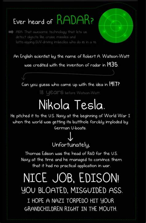 The Oatmeal Nicola Tesla Tesla Is Overrated Debunking The Cult Of Tesla Metabunk