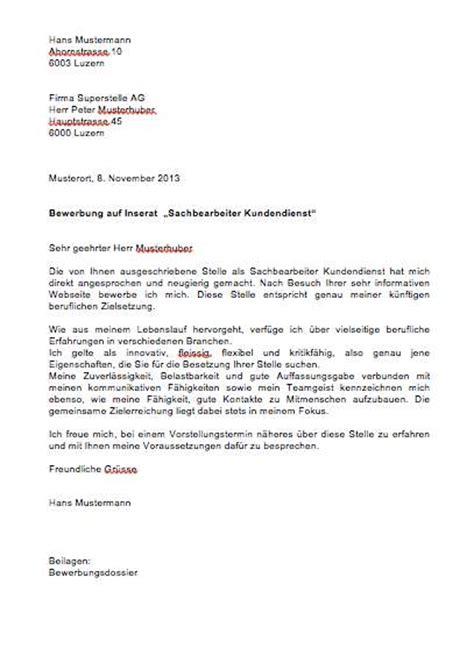 Bewerbungsschreiben Schweiz Muster Bewerbungsschreiben Vorlage Muster Und Vorlagen Kostenlos