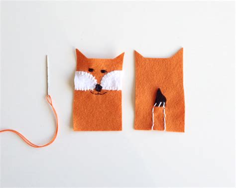 How To Make A Paper Fox Puppet - diy forest friends finger puppets handmade