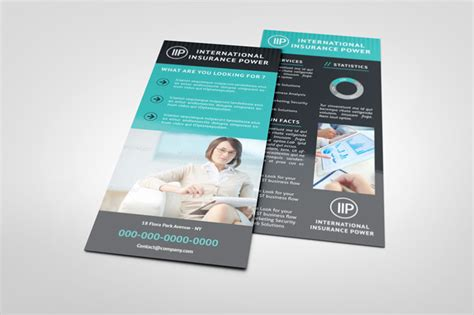rack card templates free business rack card template graphicriver print templates