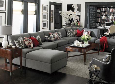 Small Modular Sofa Beckham U Shaped Sectional By Bassett Furniture