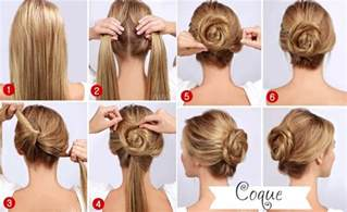 easy hairdo easy quick twisted bun hairstyle pictures photos and