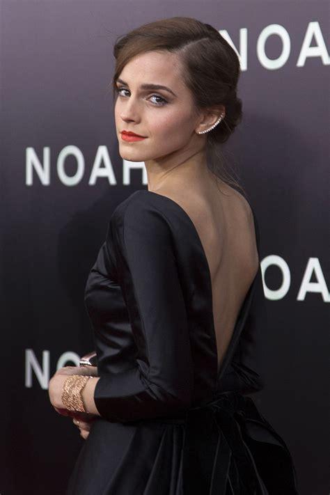 emma watson steals  show  backless ball gown  noah