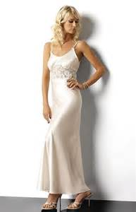 long white satin and lace nightgown diane w00968b
