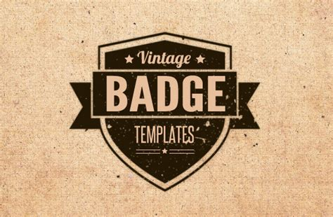 vintage badge template vintage badge templates brushes vectors and textures