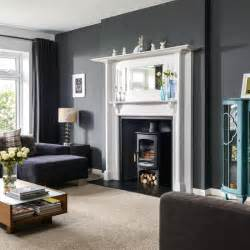 fireplace living room grey