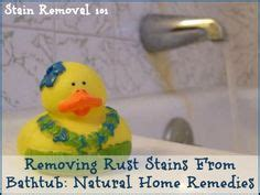 removing rust stains  bathtub natural home remedies clean bathtub rust  stains