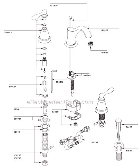 Moen 4570 Faucet Parts by Moen Monticello Faucet Parts Diagram Motorcycle Review