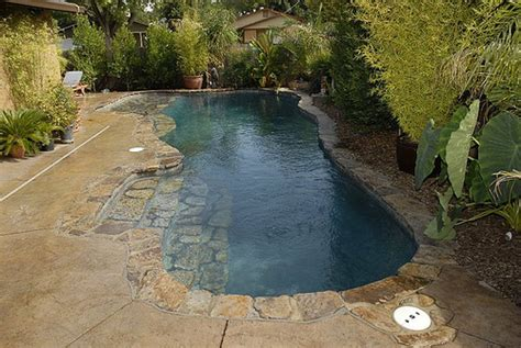 small built in pools custom built inground pool with natural setting this