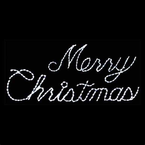 32 in outdoor led white merry christmas sign lighted