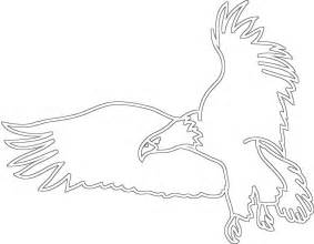 Flying Eagle Outline by Bird Outline Drawing Az Coloring Pages
