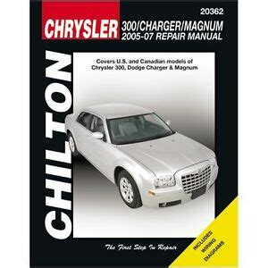 free auto repair manuals 2006 dodge charger electronic valve timing chrysler 300 repair manual ebay