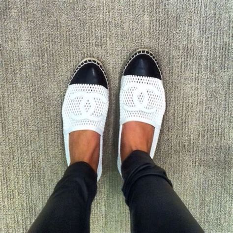 13s new 2013 chanel mesh canvas leather toe espadrilles