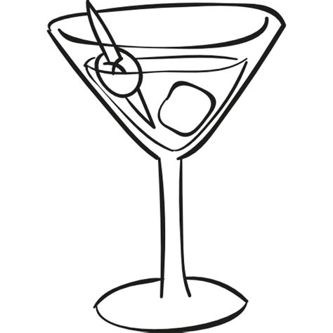 martini clipart no cocktail glass with ice cube free food icons