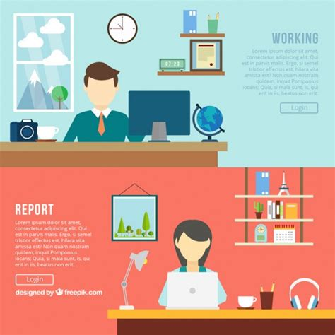 design banner office office banners vector free download
