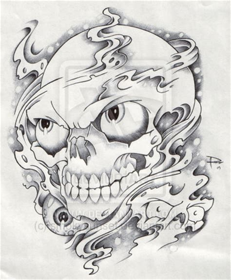 smoke skull tattoo designs smoke and skull by smokysunset on deviantart