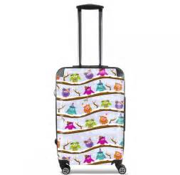 valise bagage cabine hiboux en hiver
