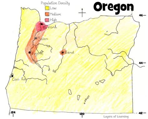 map of oregon elevation oregon population maps