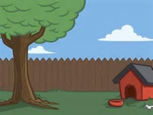 backyard cartoon cartoon doghouse backyard my first doggie backgrounds