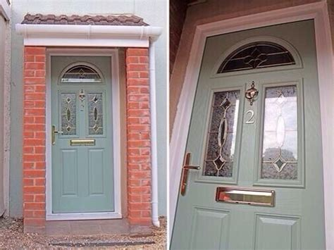 Green Upvc Front Doors Upvc Green Colour Composite Front Door Made To Measure