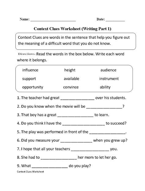 7th grade worksheets language arts homeshealth info