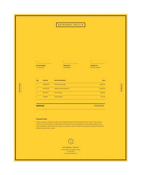 indesign invoice template for your personal thoughts best 25 invoice design ideas on invoice