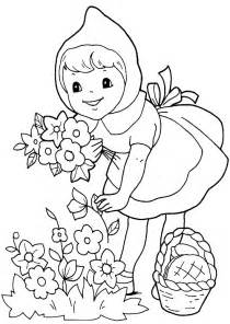 red riding hood 3 costumes coloring pictures