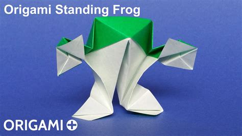Origami Standing - origami standing frog