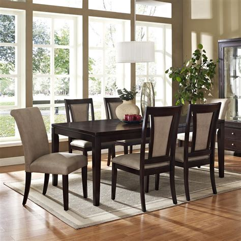 espresso dining room set steve silver wilson 7 piece 60 215 42 dining room set in