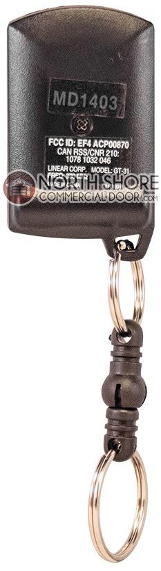 Keychain Garage Door Opener Genie Linear Gt 31 Genie Intellicode Compatible Gate And Garage Door Opener