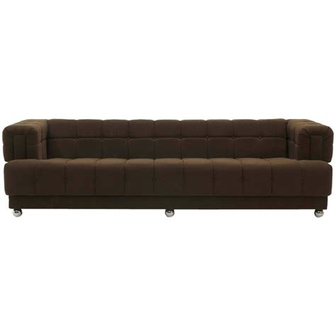 Even Arm Tufted Chesterfield Sofa 1970s New Upholstery New Chesterfield Sofa