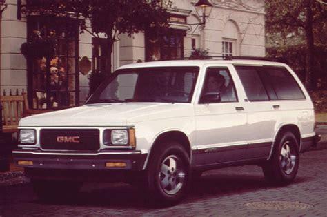 gmc jimmy 2 door 1990 94 gmc jimmy consumer guide auto