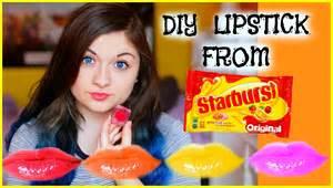 diy lipstick out of starbursts katharine ward