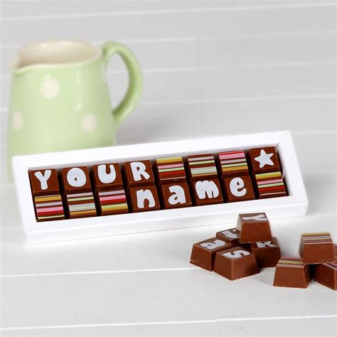 personalised chocolates in small box by chocolate by