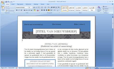 layout artikel nederlands word 2010 sjablonen download