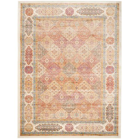 8 Ft Area Rugs by Safavieh Sevilla Ivory Multi 8 Ft X 11 Ft Area Rug