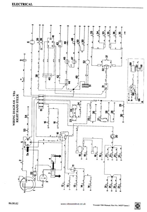 triumph tr4a wiring diagram 27 wiring diagram images