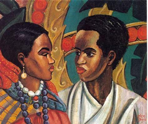 harlem renaissance hair 1950 the lovers 1950 lois mailou jones africanamericanartblog