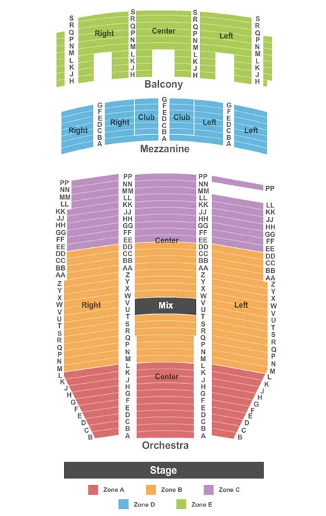 paramount theatre denver seating chart colorado concert tickets seating chart paramount
