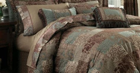 croscill galleria king size comforter set chocolate teal