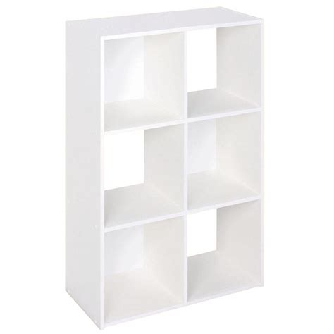 6 Cube Shelf by Closetmaid 24 In W X 36 In H White Stackable 6 Cube