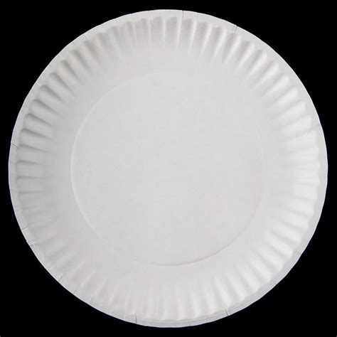 Paper Plates - 9 quot white economy paper plate 1000
