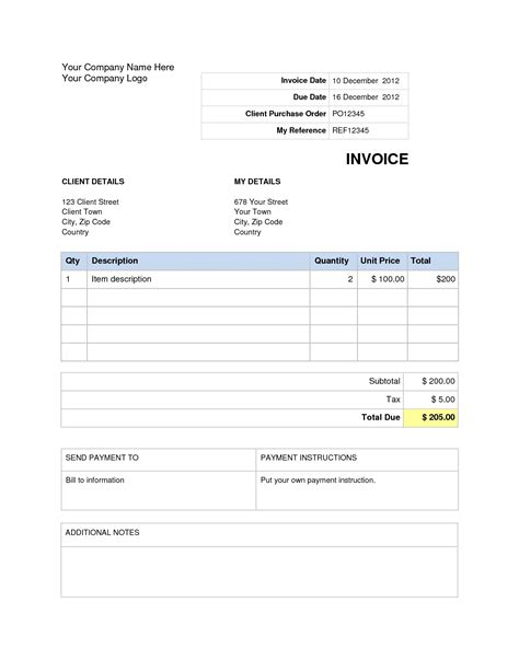 how to make an invoice on word bamboodownunder com