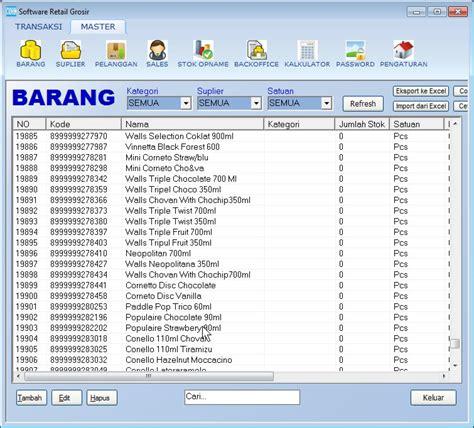 kode barcode ms excel daftar kode barcode dan nama barang minimarket di