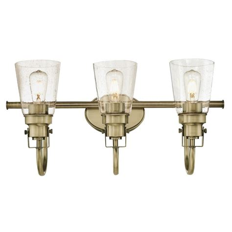 antique brass bathroom light fixtures westinghouse ashton 3 light antique brass wall mount bath
