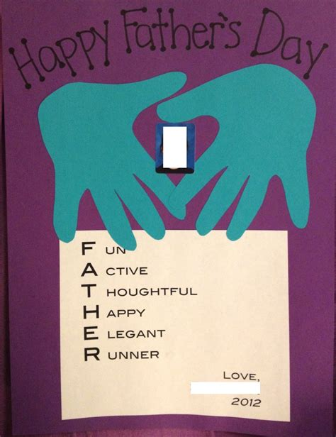 Fathers Day Paper Crafts - last minute s day craft wrote acrostic poems