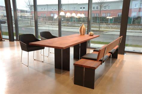 esszimmer tische mit bank tisch und bank aspekte gauss m 246 bel aus massivholz