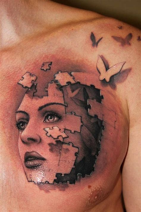 small 3d tattoos 3d hd tattoos 3d abstract tattoos on small chest for