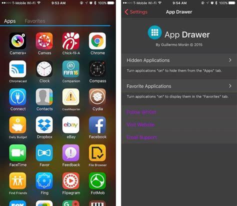 Drawer App by Appdrawer Tweak Brings Android Inspired App Drawer To Ios