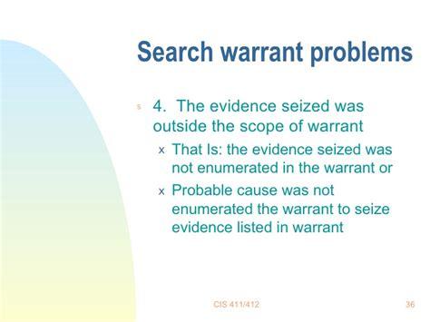 Scope Of Search Warrant Search Warrants